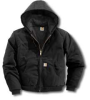 CARHARTT Men's Duck Active Jac/Quilted-Flannel Lined Black -- Model# J140 -BLK-Xxl Regular - Image