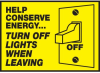 Help Conserve Energy Label -- SGN468 -Image