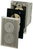 Rectangular, Metallic Floor Box - Nickel -- 6500NI