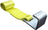Roll Off Container Winch Strap w/ Large Flat Hook -- Roll Off Straps