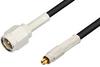 SMA Male to MC-Card Plug Cable 60 Inch Length Using RG174 Coax, RoHS -- PE36112LF-60 -Image