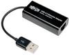 USB 2.0 Ethernet NIC Adapter, 10/100 Mbps - Black -- U236-000-R