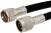 N Male Right Angle to UHF Male Cable 12 Inch Length Using RG214 Coax -- PE38204-12 -Image