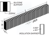 Elastomeric PCB Connectors -- ZEBRA® Connector, Silver
