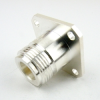 N Female Connector Solder Attachment 4 Hole Flange for RG405 Cable -- SC9190 -Image