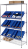 Chrome Wire Shelving with Sloped Shelves -- 5488600