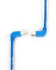 15FT Blue CAT6 250MHz Angle Patch Cable S/FTP CM Down-Up -- EVNSL216S-0015-90DU - Image