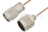 N Male to TNC Male Cable 12 Inch Length Using RG178 Coax, RoHS -- PE33455LF-12 -Image