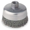 Crimped Cup Brush,4 Dia,0.0200 Wire,SS -- 1PAK1