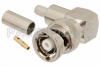 RP BNC Male Right Angle Connector Crimp/Solder Attachment for RG58, RG303, RG141, PE-C195, PE-P195, LMR-195, 0.195 inch -- PE4730 -Image