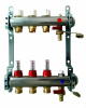 Pre-Assembled Manifold with Thermostatic Screw, Flow Meters and Terminal Parts Included -- A342