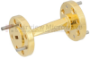 WR-12 45 Degree Waveguide Left-hand Twist Using a UG-387/U Flange And a 60 GHz to 90 GHz Frequency Range -- SMW12TW1002 -Image
