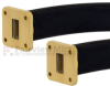 WR-75 Seamless Flexible Waveguide in 36 Inch Using Square Cover Flange With a 10 GHz to 15 GHz Frequency Range -- SMW75SF005-36 -Image