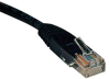 Cat5e 350MHz Molded Patch Cable (RJ45 M/M) - Black, 20-ft. -- N002-020-BK