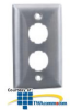 Hubbell HI-Impact Stainless Steel Plate -- HISF