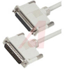 Cable;Premium Molded;Straight;DB25 Male/Female;50 Ft;25 Cond;Light Gray;Stranded -- 70126165 - Image