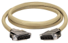 10-ft RS232 Shielded Cable Metal Hood DB25 M/M 7-Conductor -- EBN07C-0010-MM - Image