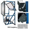 Supports the projector and mirror(s) in a rear projection room. -- RPX Rear Screen Systems