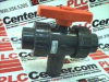 BALL VALVE 3WAY PVC W/SOLVENT CEMNT SOCKETS 150PSI -- 161343294