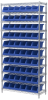 Akro-Mils 2000 lb Adjustable Blue Chrome Steel Open Adjustable Fixed Shelving System - 10 Bins - 2000 lb Total Capacity - AWS143630312 BLUE -- AWS143630312 BLUE - Image