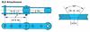 RF Conveyor Chain Basic Metric Series - G-2 Attachment -- RF05100 - G-2 - Image