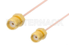 SMA Female to SMA Female Cable 12 Inch Length Using PE-034SR Coax, RoHS -- PE34405LF-12 -Image