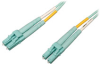 10Gb/100Gb Duplex Multimode 50/125 OM4 LSZH Fiber Patch Cable (LC/LC) - Aqua, 1M (3-ft.) -- N820-01M-OM4