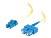 2m LC/SC Duplex 9/125 Single Mode Fiber Patch Cable -- 26260