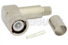 C Male Right Angle Connector Crimp/Solder Attachment for RG214, RG9, RG225, RG393 -- PE4949 -Image