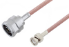 N Male to BNC Male Cable 150 CM Length Using RG142 Coax -- PE3W00140-150CM -Image