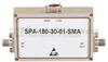 12 GHz to 18 GHz, Medium Power Broadband Amplifier with 1 Watt, 33 dB Gain and SMA -- SPA-180-30-01-SMA -Image