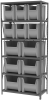Shelving, Steel Shelving Kit 18x36x79, 12 Bins -- AS1879ASORT - Image