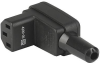 IEC Connector C13, Rewireable, Angled -- 4300-06 -Image