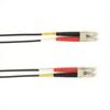 1-m, LC-LC, 50-Micron, Multimode, Plenum, Black Fiber Optic Cable -- FOCMP50-001M-LCLC-BK - Image
