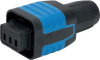 IEC Connector protection degree IP67 / IP69K, Rewireable, Straight