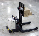Savant fork AGVs cover a wide range of configurations and capacities. Standard capacities range from 1,200 to 4,000 lbs.