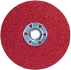 Norton Red Heat CA Coarse Speed-Change Fastener Fiber Locking Disc - 77696009737 -- 77696009737 -Image