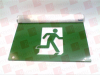 BEGHELLI INC OT-RMLWC1-0-120347V-BA ( EXIT SIGN RUNNING MAN GREEN WALL/CEILING LED ALUM SINGLE-FACE 120/347VAC 2WATT ) -Image