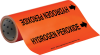 Brady B-946 Black on Orange Vinyl Self-Adhesive Pipe Marker - 12 in Height - 30 ft Length - Printed Msg = HYDROGEN PEROXIDE with Left Arrow - 109345 -- 754473-67577