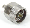 N Male (plug) to QMA Female (Jack) Adapter, Passivated Stainless Steel Body, 1.25 VSWR -- SM5571 - Image