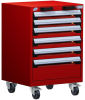 R Mobile Cabinet, with Partitions, 6 Drawers (24