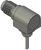 Honeywell Harsh Application Aerospace Proximity Sensor, HAPS Series, Right angle cylindrical threaded form factor, 2,50 mm/3,50 range, 3-wire open collector output normally closed, 213,36 cm [84.0 in] -- 1PRTD3BHG1-000 -- View Larger Image