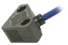 Triaxial MEMS Shock accelerometer, 60kG, thru hole mount, integral 10-ft silicone cable terminating in pigtails -- 3503A1160KG