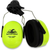 Global Glove Bullhead Safety Lime Hard Hat Mounted PVC Protective Earmuff - HP-M3 -- HP-M3