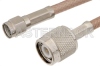 SMA Male to TNC Male Cable 12 Inch Length Using RG141 Coax -- PE37580-12 -Image