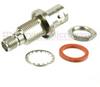 Bulkhead SMA Female (Jack) to BNC Female (Jack) Adapter, Nickel Plated Brass Body, 1.2 VSWR -- SM4705 - Image