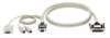 ServSwitch™ to Keyboard/Monitor/Mouse Cables, 10-ft. (3.0-m) -- EHN383S-0010