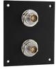 2 JACK PANEL INSERT BULKHEAD REAR MOUNT TRB 3 LUG ISOLATED -- REF00211 -Image