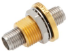 2.92mm Female (Jack) to 2.92mm Female (Jack) Bulkhead Adapter, Gold plated Stainless Steel Body, 1.35 VSWR -- FMAD1201 - Image