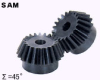 60mm PD Angular Miter Gears -- SAM3-20060
